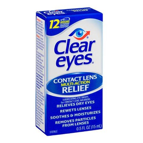 Clear Eye Contact Lens Relief