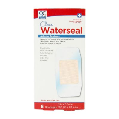 Clear Waterseal  2inx3 3/4 In Adhesive Bandages